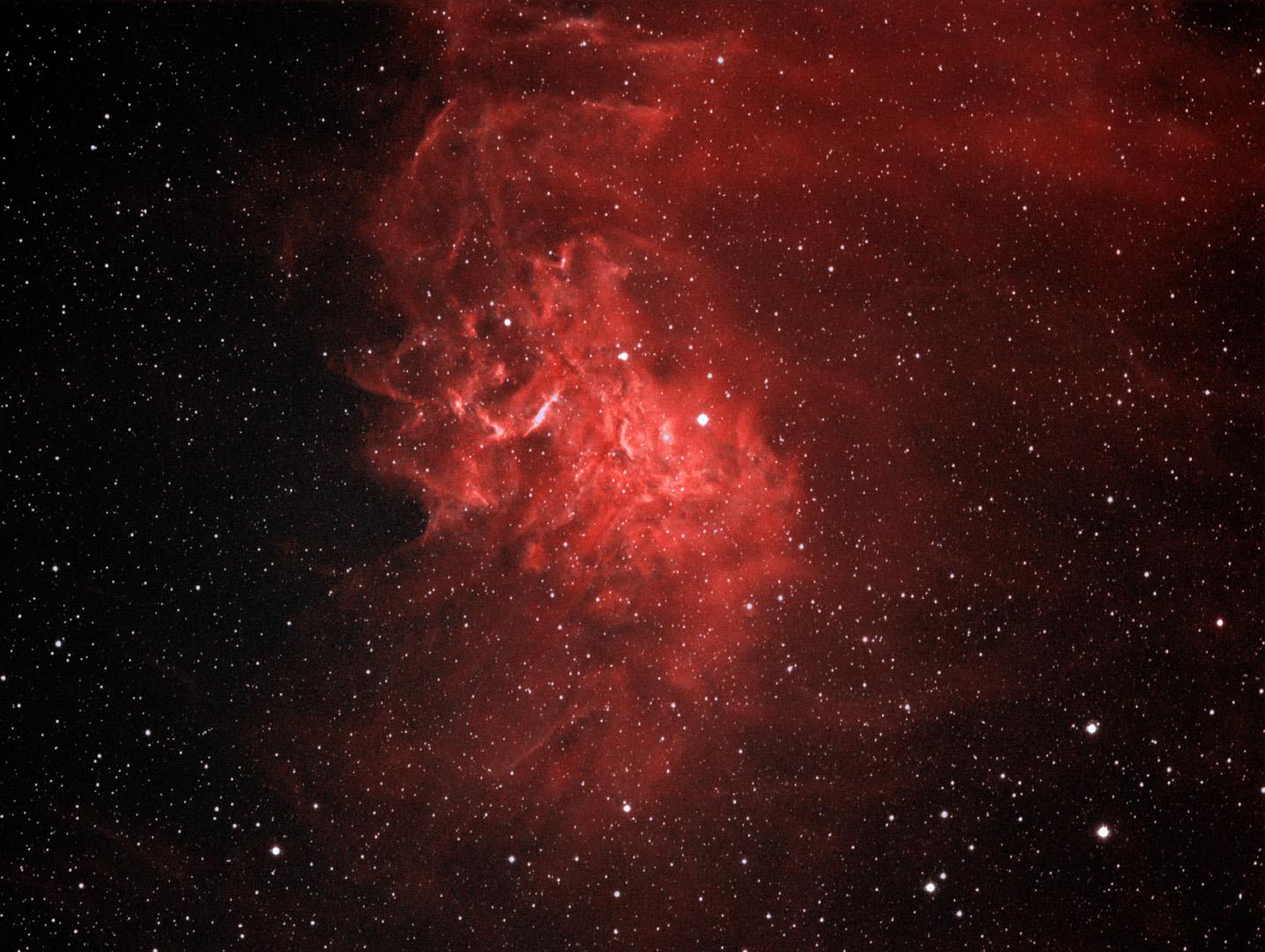 IC 405, Flaming Star Nebula in Auriga, large
