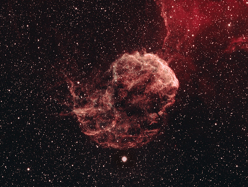 IC 443, Jellyfish Nebula in Gemini, small